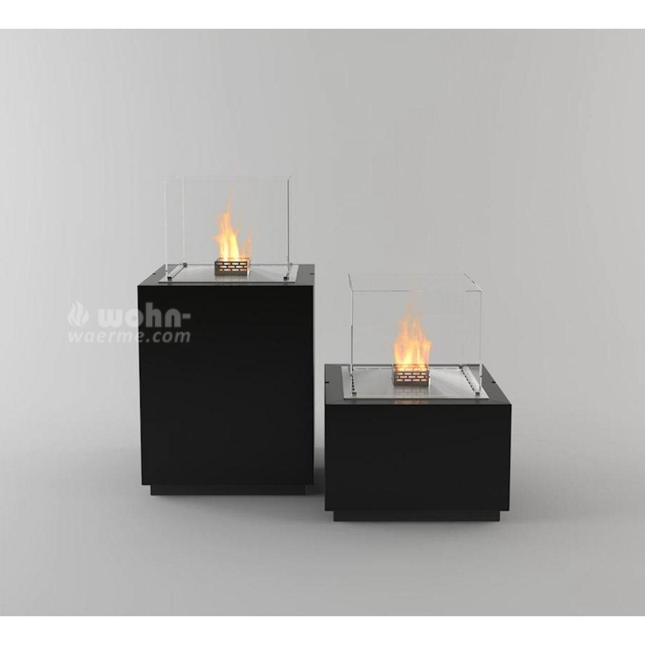design ethanol kamin s ule decoflame monaco square. Black Bedroom Furniture Sets. Home Design Ideas
