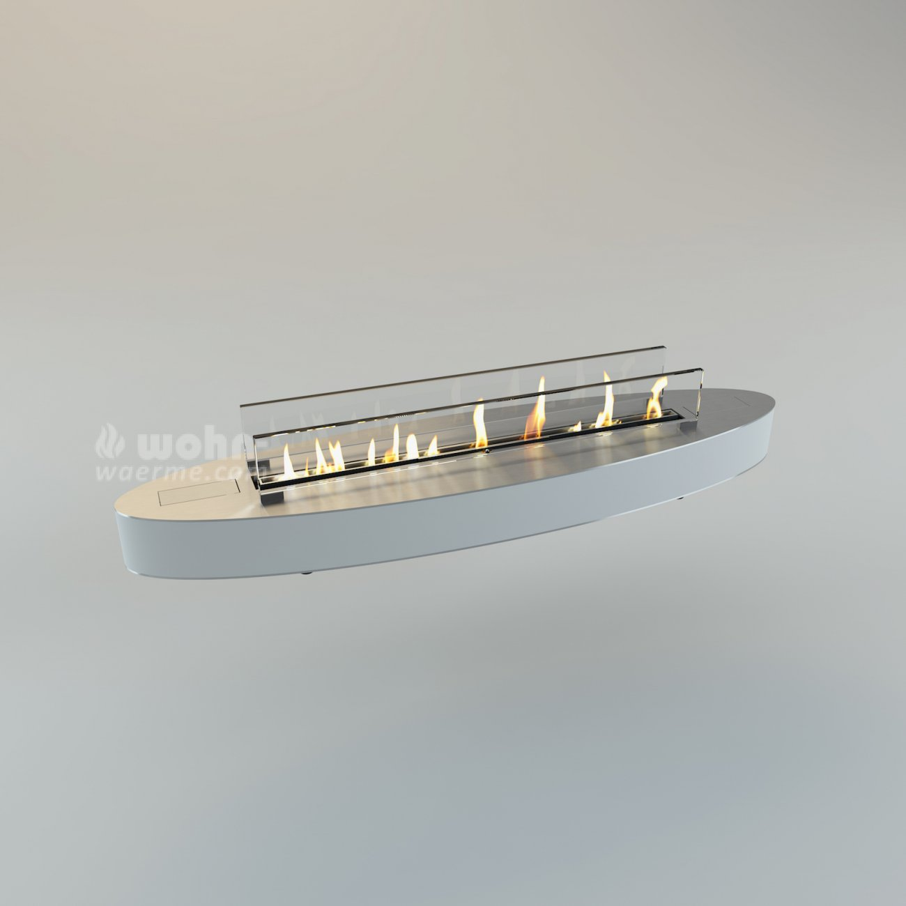 Decoflame Ellipse Flueless Fire: Design Ethanol Tischkamin Decoflame Denver Ellipse