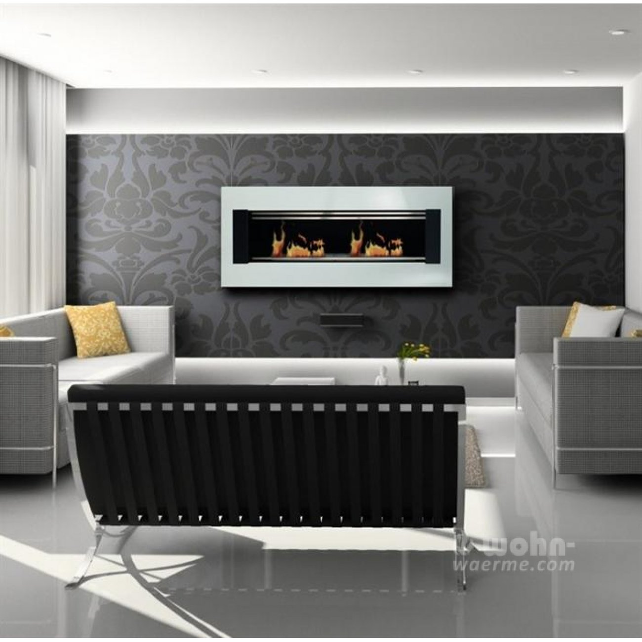 glammfire bioethanol wandkamin mito. Black Bedroom Furniture Sets. Home Design Ideas