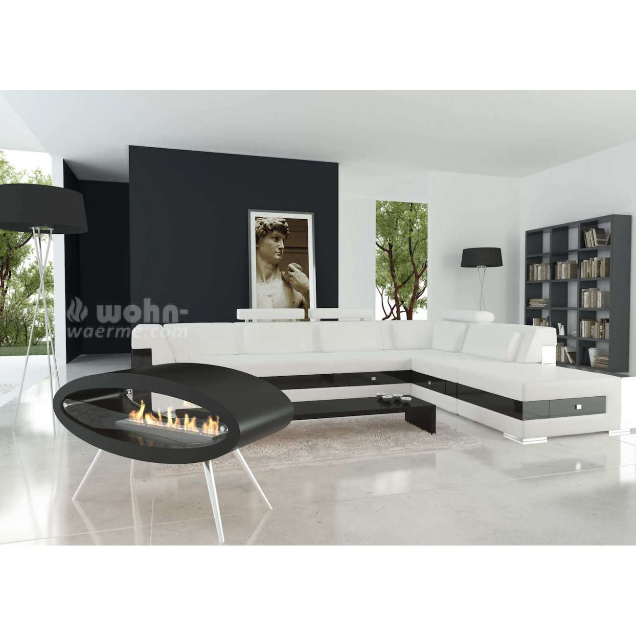 decoflame ellipse design ethanol kamin als standkamin. Black Bedroom Furniture Sets. Home Design Ideas