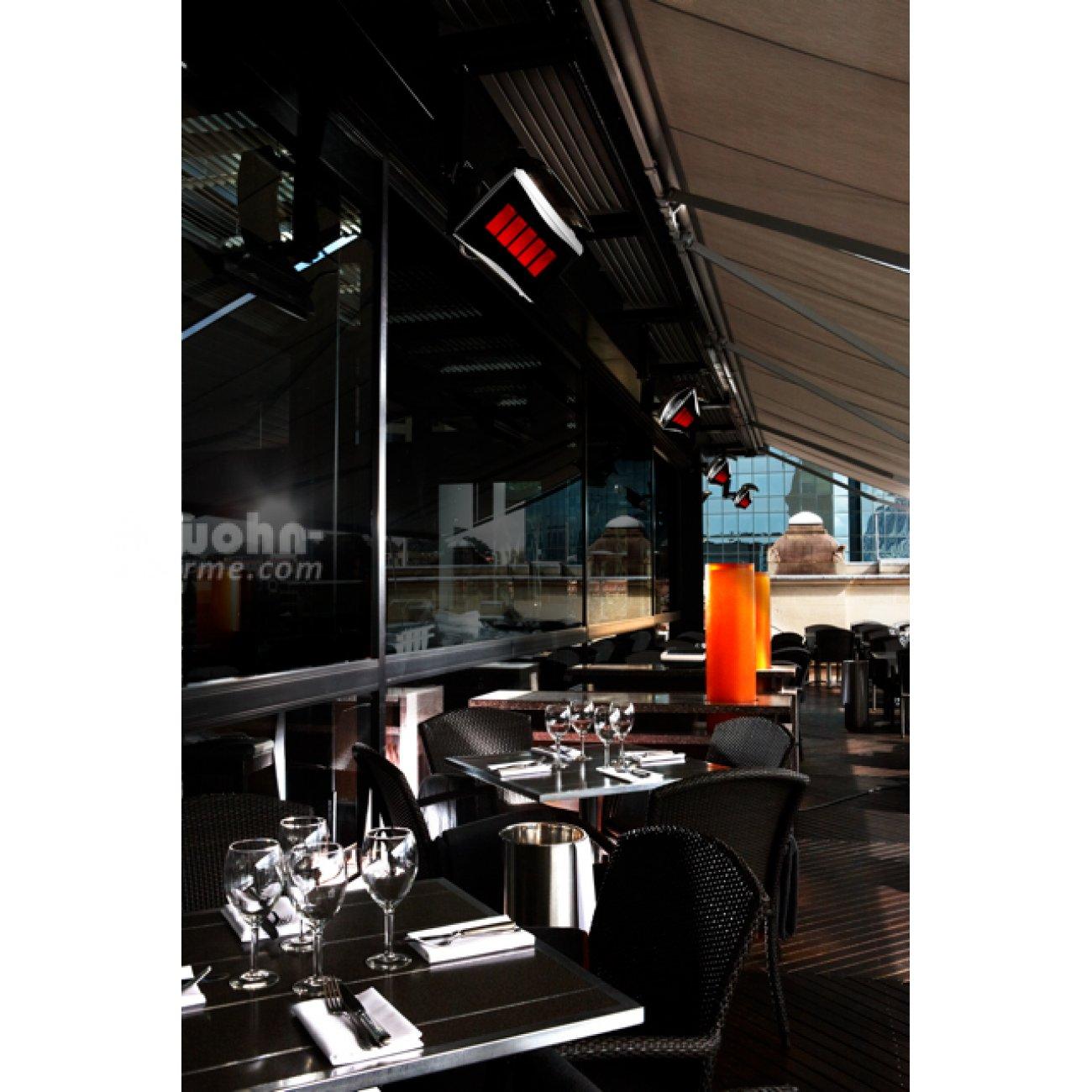 infrarot design heizstrahler mit gas f r die terrasse. Black Bedroom Furniture Sets. Home Design Ideas