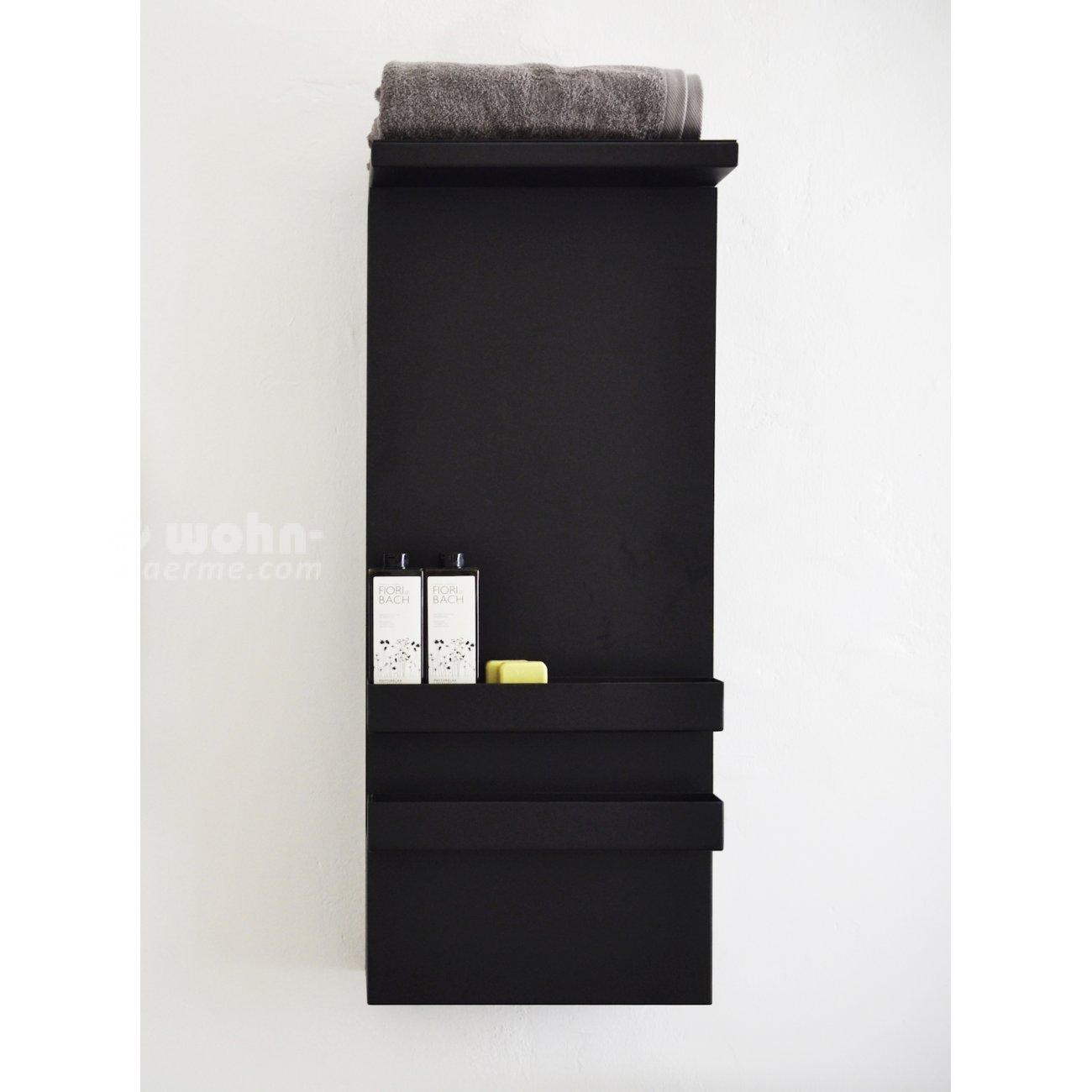 elektrischer handtuchwaermer mit regal wohn. Black Bedroom Furniture Sets. Home Design Ideas