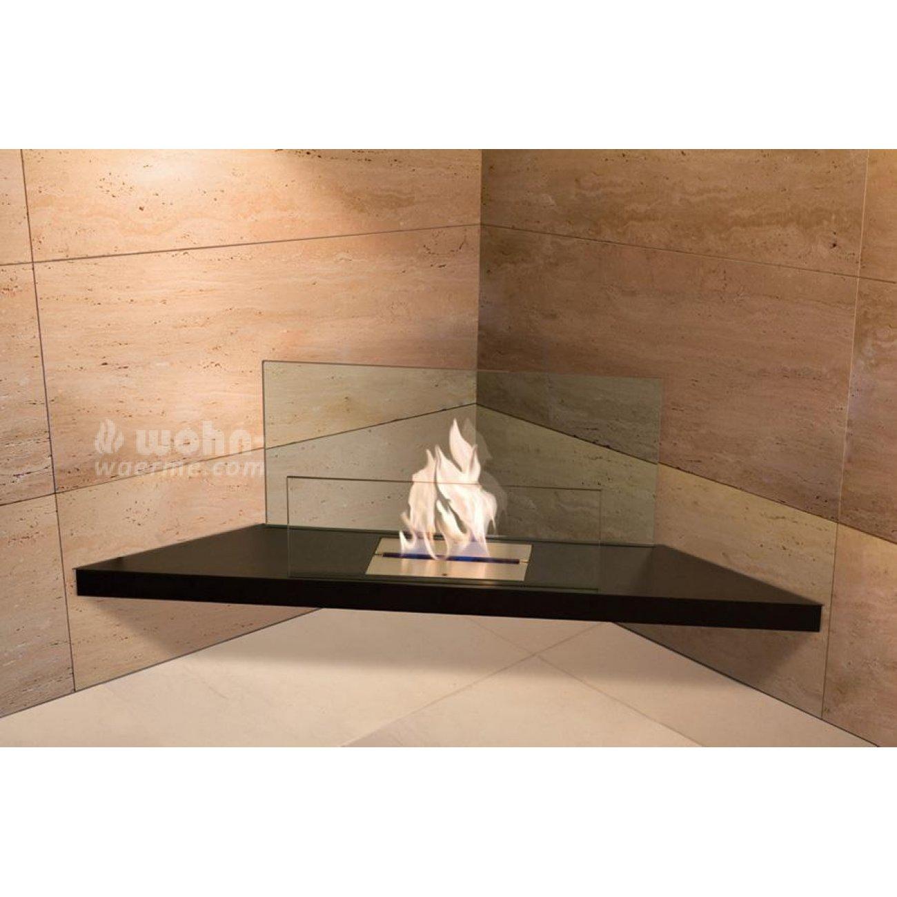 bio ethanol eckkamin radius design corner flame. Black Bedroom Furniture Sets. Home Design Ideas