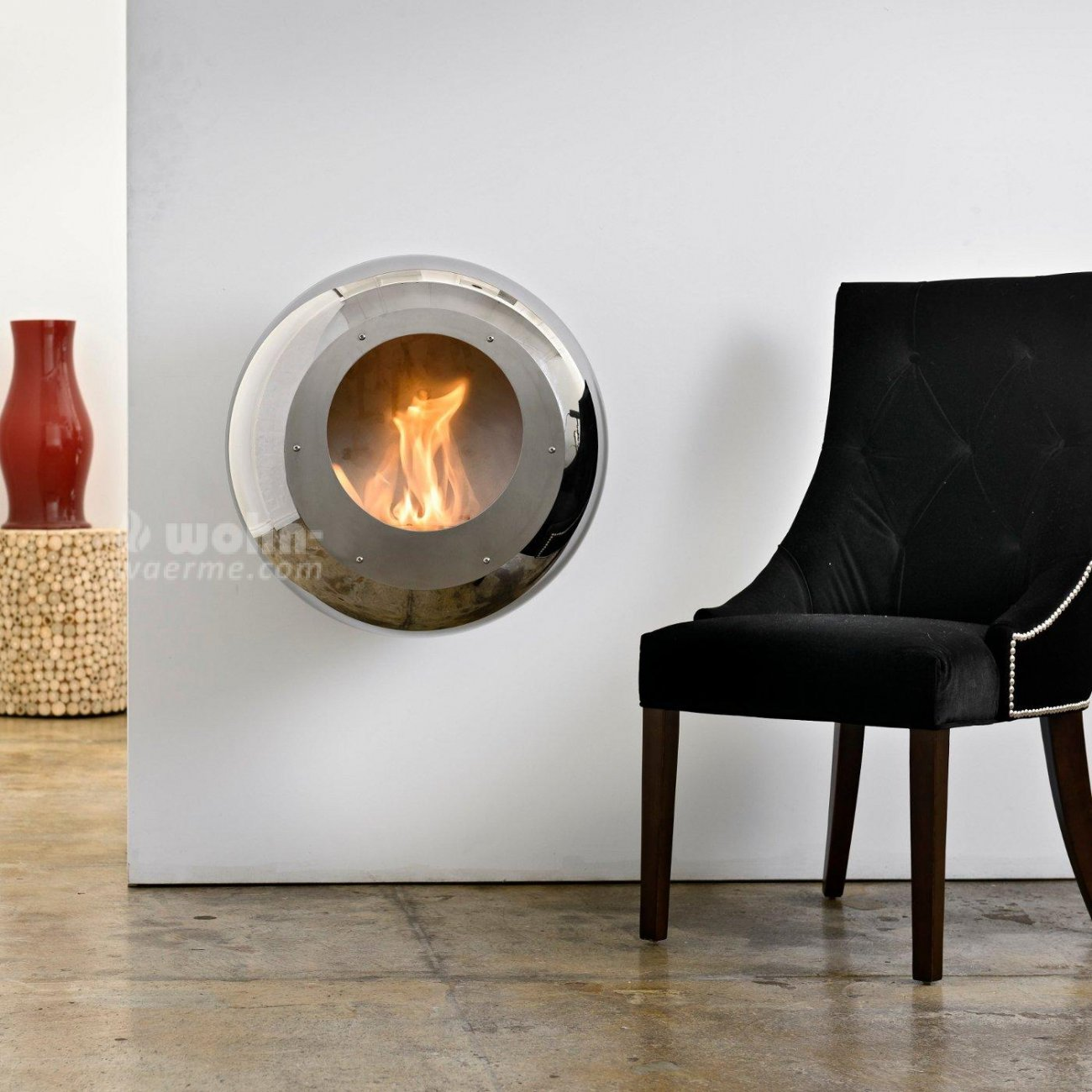 cocoon fires vellum design ethanolkamin f r die wand. Black Bedroom Furniture Sets. Home Design Ideas