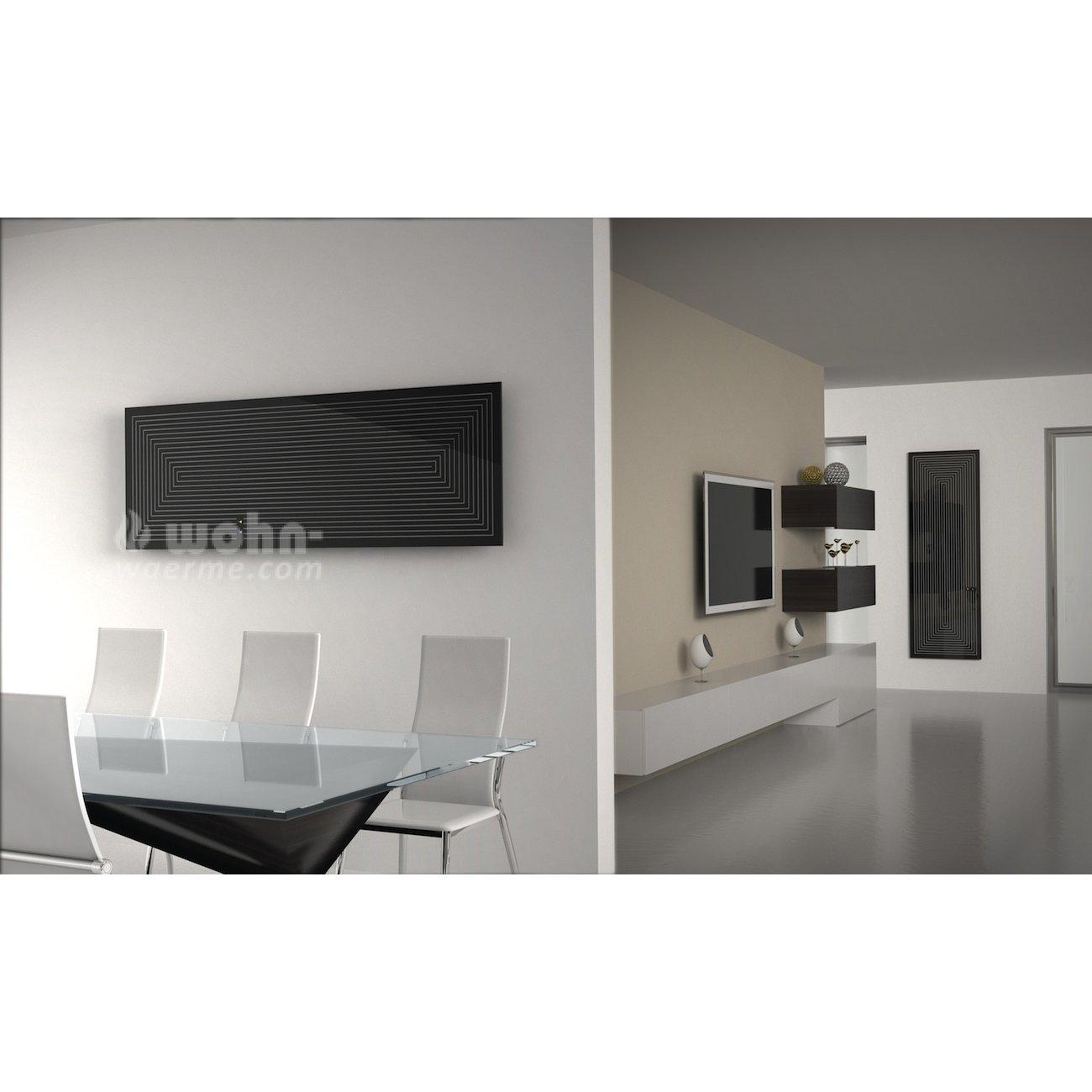 glasheizk rper von d a s als infrarotheizung mit muster. Black Bedroom Furniture Sets. Home Design Ideas
