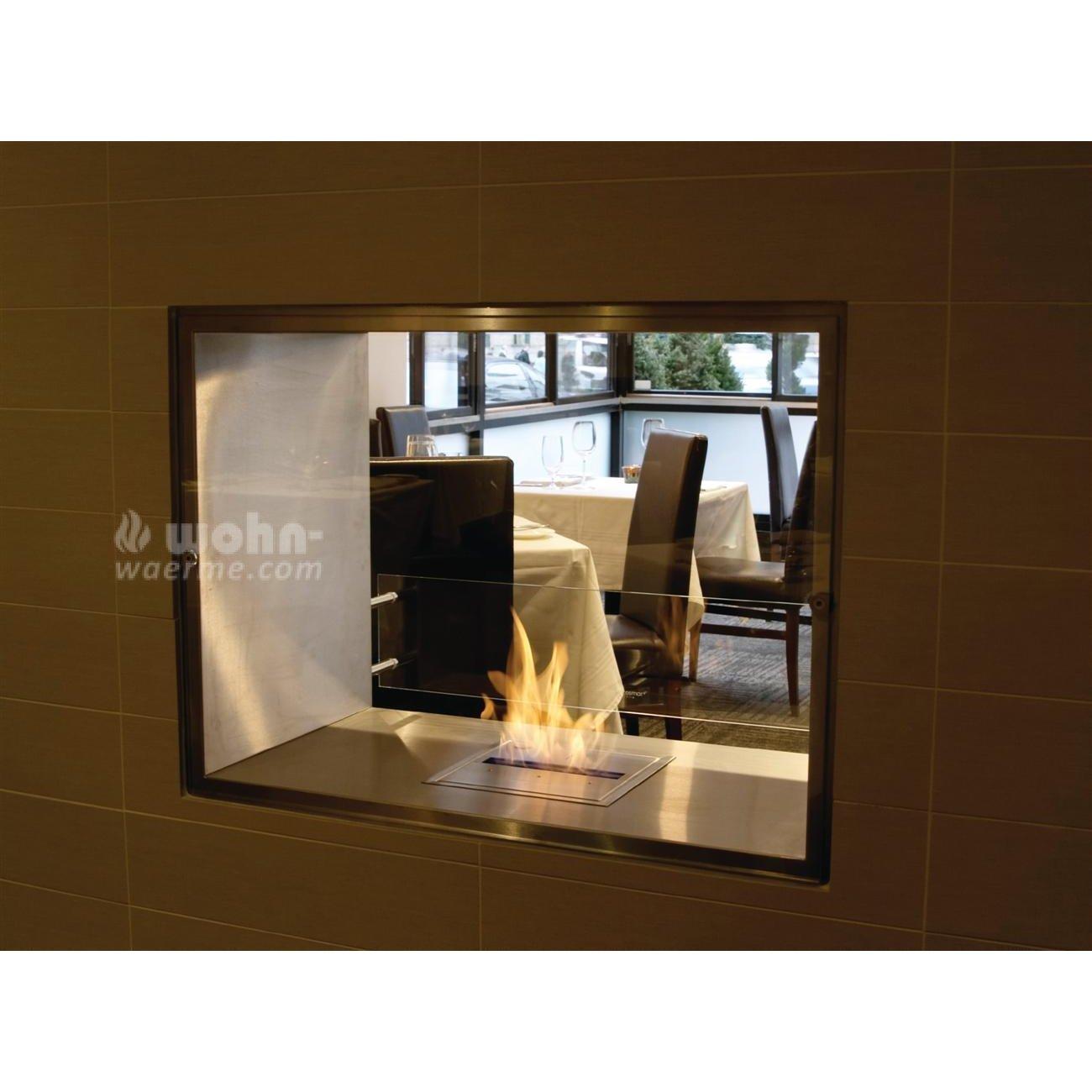 ecosmart einbau kamin firebox f r durchsichtkamin. Black Bedroom Furniture Sets. Home Design Ideas