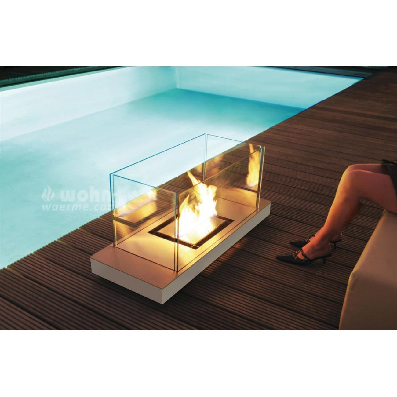 radius design uni flame ethanol kamin. Black Bedroom Furniture Sets. Home Design Ideas