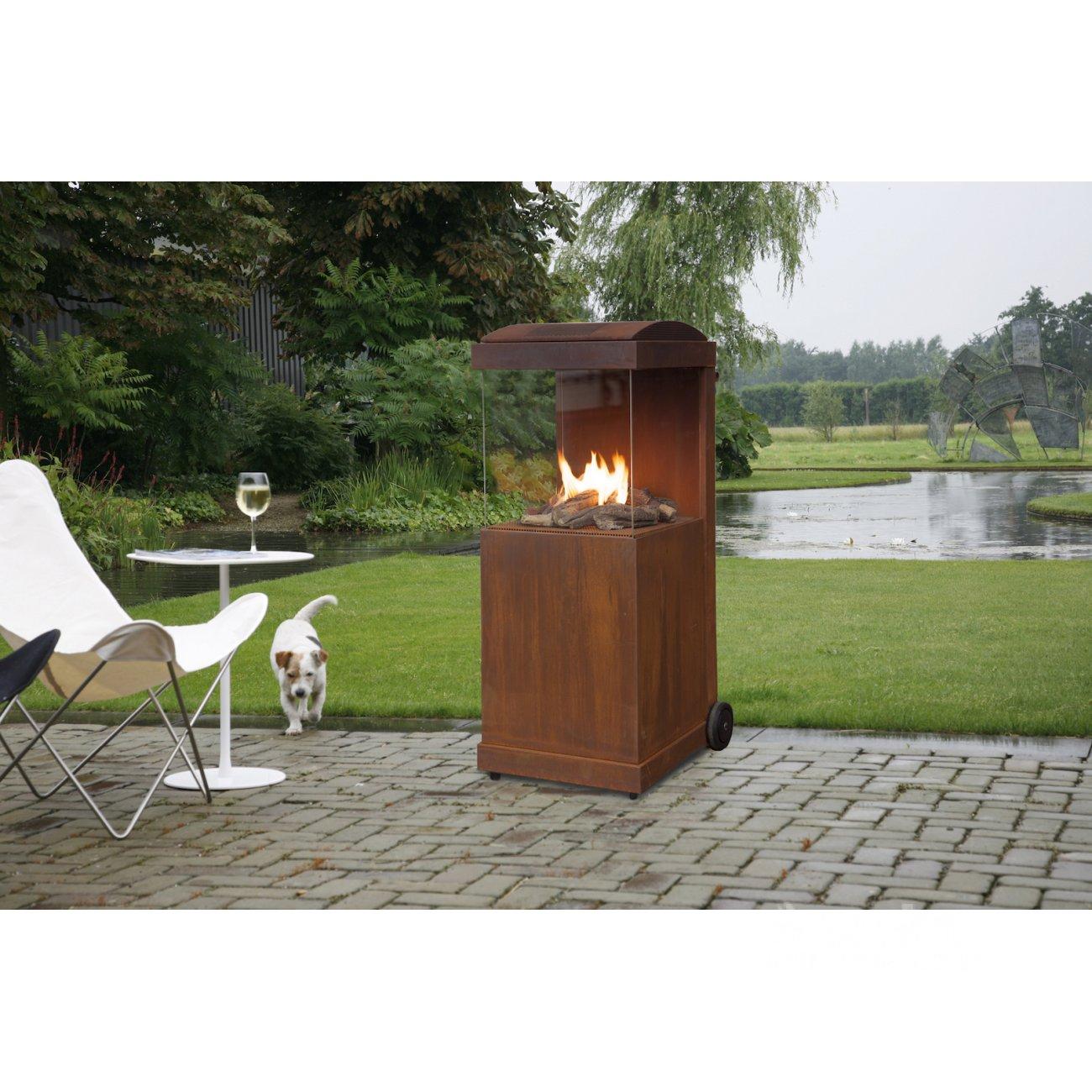 stahl aussenkamin thebuzz. Black Bedroom Furniture Sets. Home Design Ideas