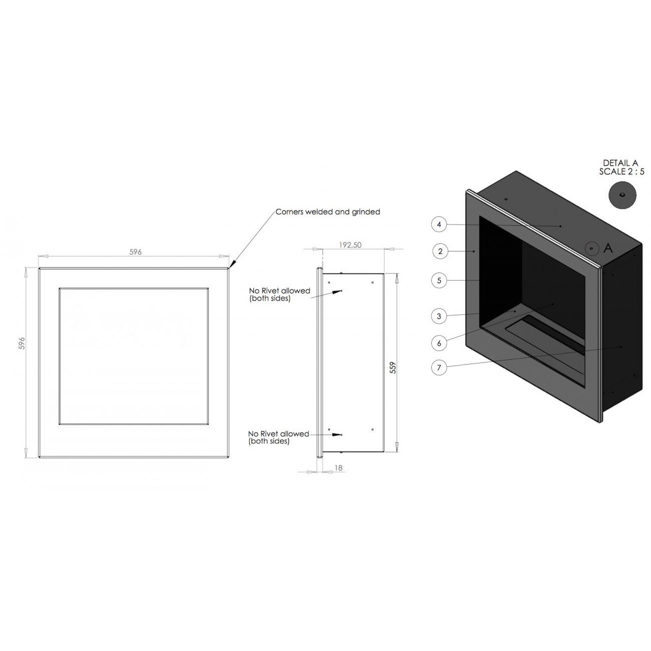 desing einbau ethanolkamin nemo von safretti. Black Bedroom Furniture Sets. Home Design Ideas