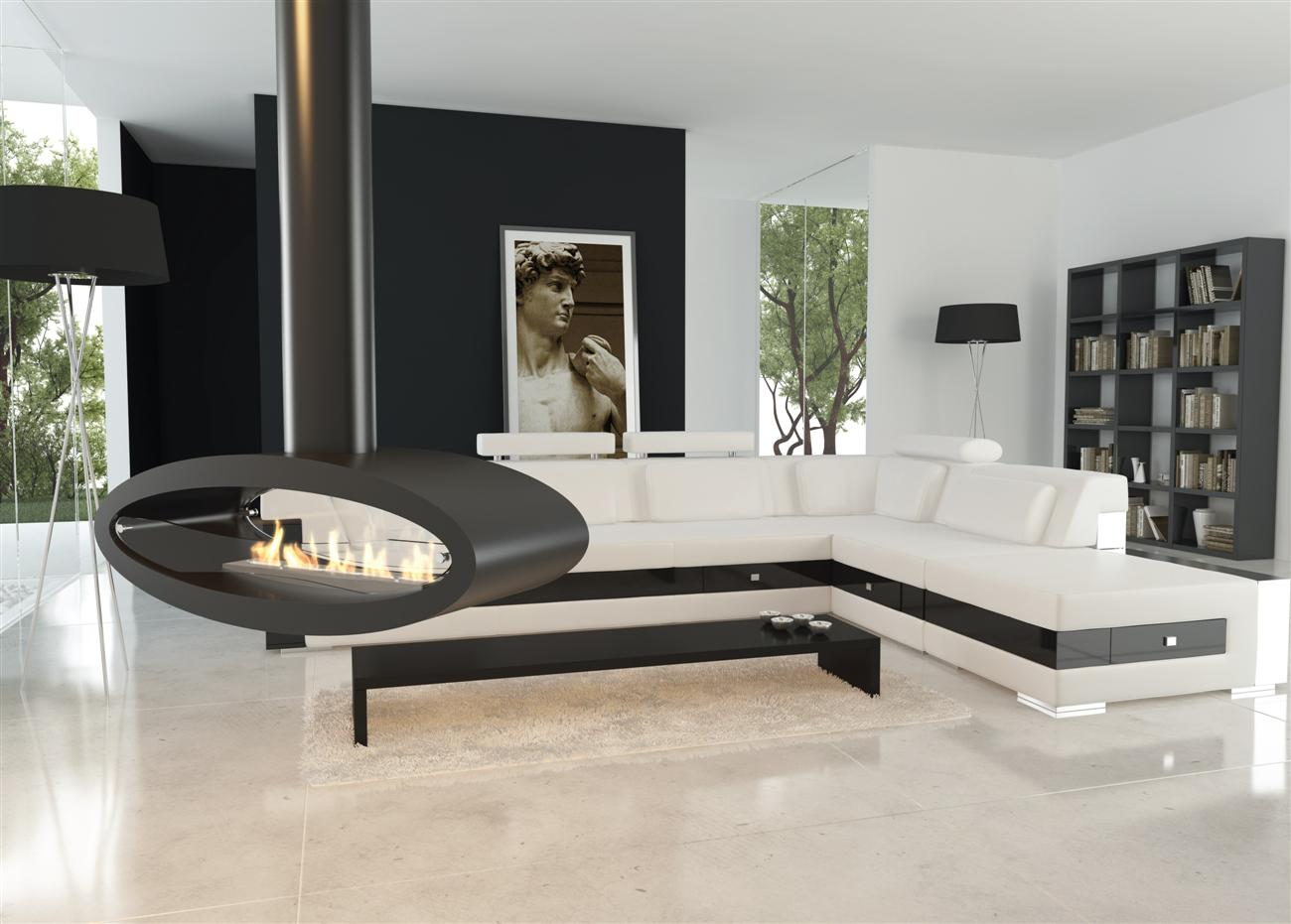 decoflame ellipse ethanolkamin zum aufh ngen oder aufstellen. Black Bedroom Furniture Sets. Home Design Ideas