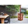 Mobiler Design Gartenkamin aus Cortenstahl Quaruba XXL 3 Seiten Glas ungerostet
