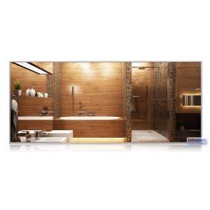 Infrarot Spiegelheizung 1400x600 mit Rahmen