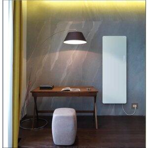 Glas Infrarotheizung in elegantem Design 1000x500 weiss
