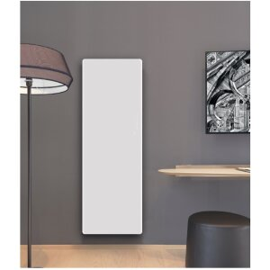 Glas Infrarotheizung in elegantem Design 1400*500 weiss