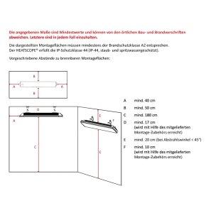 Heatscope Spot Design Heizstrahler Infrarot weiss Fernbedienung 2200 Watt