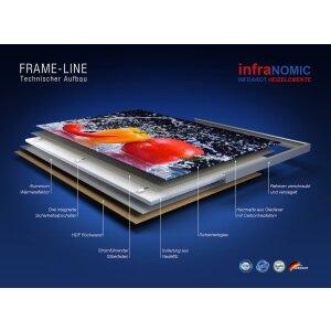 Decken Infrarot Heizpanel 900x600 schwarz