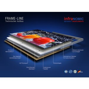 Decken Infrarot Heizpanel 1100x600 weiss