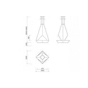 Luxus Decken-Ethanolkamin Eudoxus schwarz