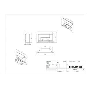 Ethanol Einbaukamin BK-Serie von bioKamino weiss BK0955