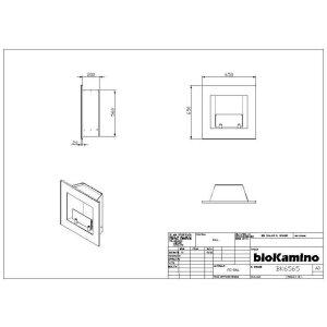 Ethanol Einbaukamin BK-Serie von bioKamino schwarz BK1368