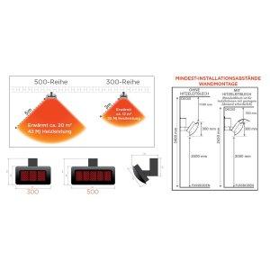 Infrarot Gas Design Heizstrahler Tungsten von Bromic Heating