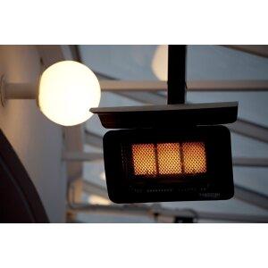 Infrarot Gas Design Heizstrahler Tungsten von Bromic Heating 7600 Watt / 7,6 KW