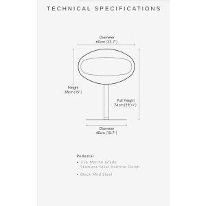 Cocoon TERRA Pedestal Design Ethanol Kamin zum Aufstellen Edelstahl/Edelstahlfuss