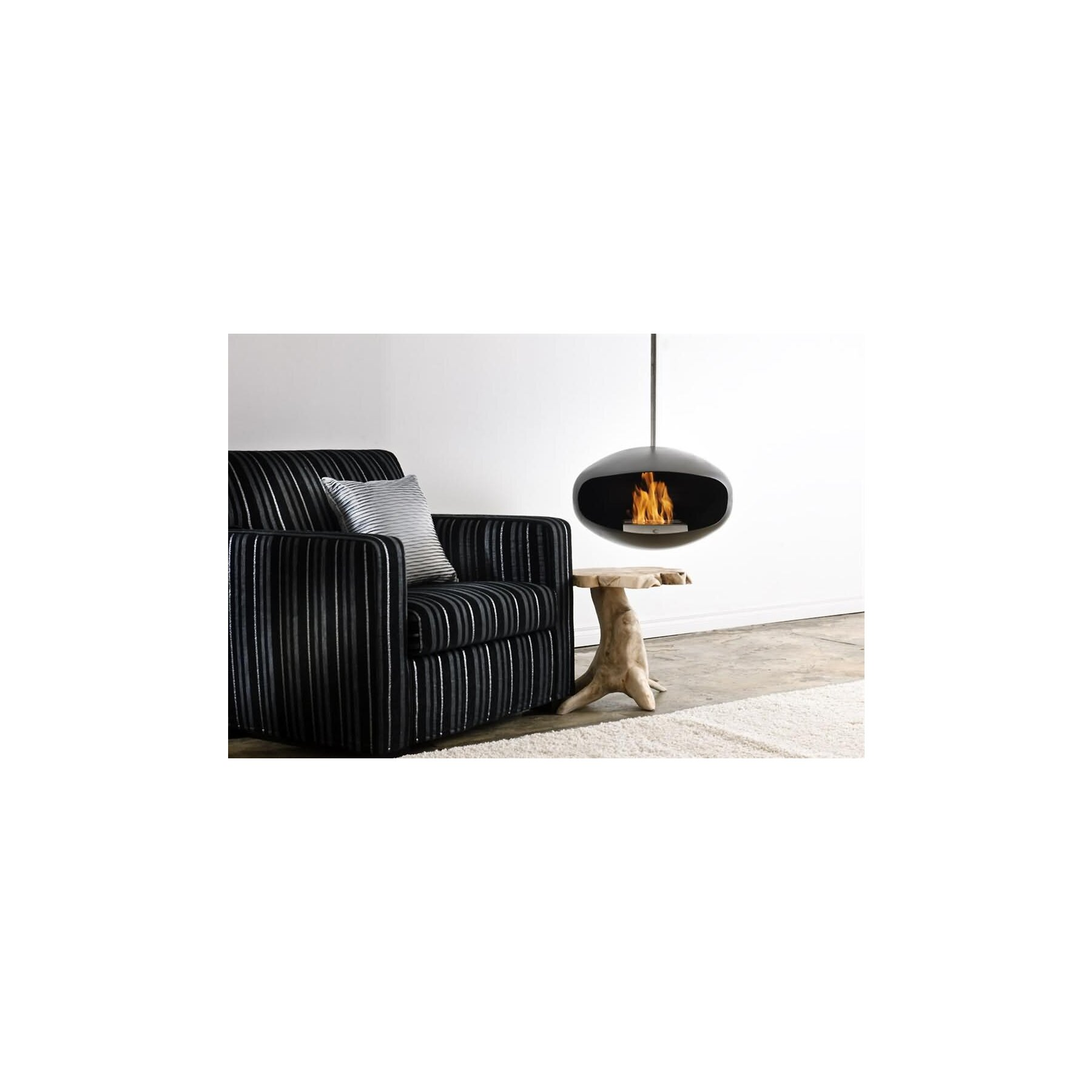 Cocoon Fires Aeris Design Ethanolkamin Hangend