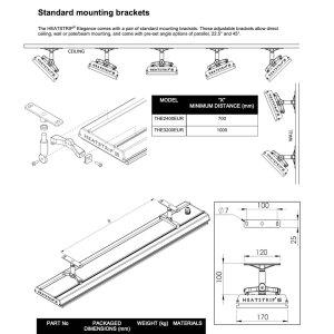 Heatstrip Design Heizstrahler  mit Fernbedienung