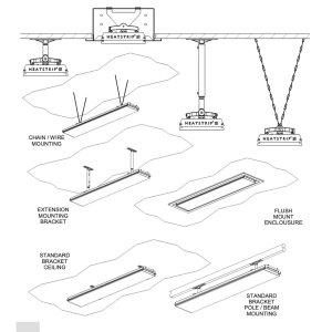 Heatstrip Design Heizstrahler  mit Fernbedienung 3200 Watt