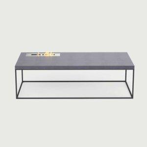 Beton Feuertisch mit Stahlgestell länglich Tabula...