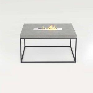 Beton Feuertisch mit Stahlgestell quadratisch Tabula...