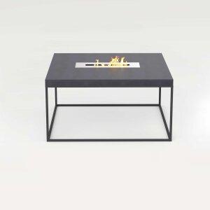 Beton Feuertisch mit Stahlgestell quadratisch schwarz...