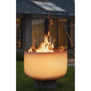 QFlame Glas Feuerschale brennend