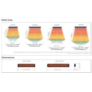 Elektro Design Heizstrahler Tungsten Serie weiss matt 6000 Watt