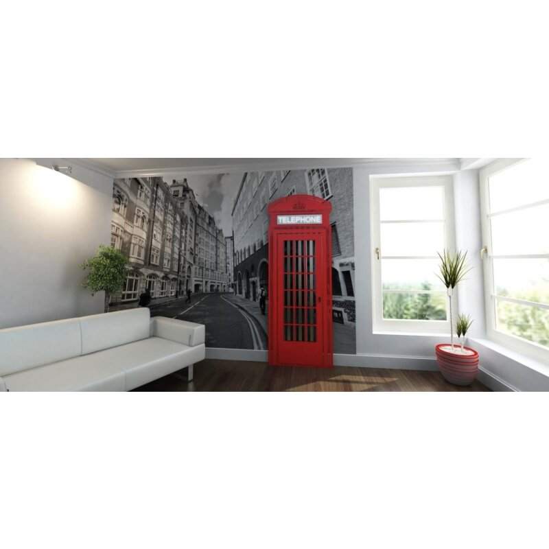 Designer Heizkörper Red Telephon Box Art RADIATORS