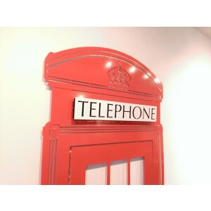 Designer Heizkörper Red Telephon Box Art RADIATORS