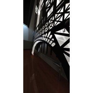 Art RADIATORS Eiffel Turm Designheizkörper in Edelstahl