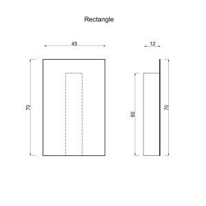 Elektrischer Handtuchtrockner Rectangle