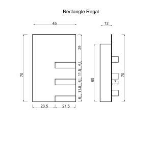 Elektrischer Handtuchtrockner Rectangle Regal