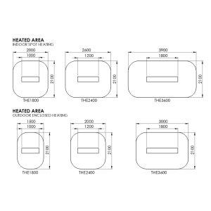 Design Heizstrahler Heatstrip Elegance 3600 Watt