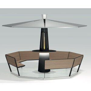 Focotto Heizstrahler und Outdoor Möbel