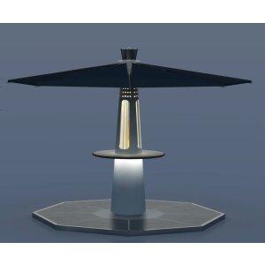 Focotto Feedom Heizstrahler mit Tisch und Dach