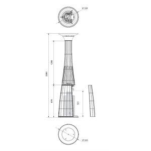 Design Heizstrahler Lightfire Dolcevita