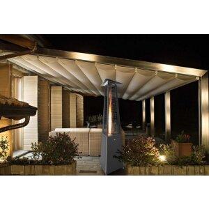 Luxus Terrassen Heizstrahler FALO Evo von Italkero schwarz Propangas (Flaschen) manuell