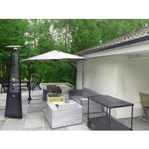 Luxus Terrassen Heizstrahler FALO Evo von Italkero schwarz Propangas (Flaschen) mit Automatik + Fernbedienung