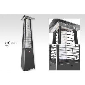 Luxus Terrassen Heizstrahler FALO Evo von Italkero schwarz Erdgas (Leitung) mit Automatik + Fernbedienung