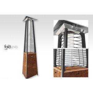 Luxus Terrassen Heizstrahler FALO Evo von Italkero Rost Erdgas (Leitung) manuell