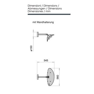 phormalab hotdoor Design Heizstrahler Wandhalterung Kopf schwarz / Reflektor weiss
