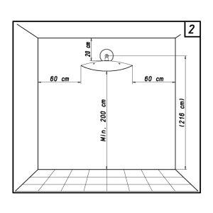 phormalab hotdoor Design Heizstrahler Wandhalterung Kopf weiss / Reflektor schwarz